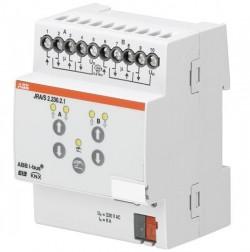 Actuador de persianas, manual, 2 canales, 230 V AC, DIN