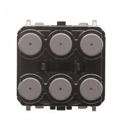 Pulsador Olas / Zenit KNX 3/6 canales
