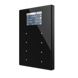 Panel capacitivo de 8 botones y display (modelo VIEW). Marco policarbonato
