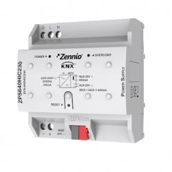 Fuente de alimentación KNX 640mA con 29VDC auxiliar. Vin: 230VAC