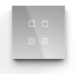 Pulsador capacitivo KNX , 4 botones e iluminación perimetral RGB. Blanco