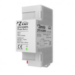 Fuente de alimentación KNX 160mA con 29VDC auxiliar. Vin: 230VAC