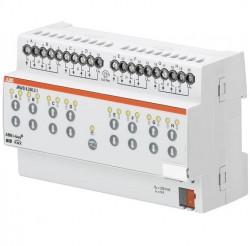 Actuador de persianas, manual, 8 canales, 230 V AC, DIN