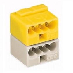 Caja 50 uds. fichas de empalme KNX amarilla/gris claro