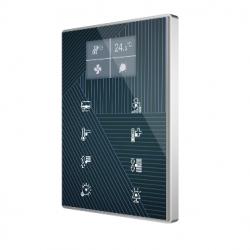 Panel Capacitivo de 8 botones y display (modelo ONE). Marco aluminio - Personalizado