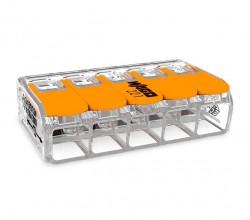 Caja 15 uds. Borna derivación 6 mm transparente 5 conductores