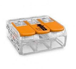 Caja 50 uds. Borna derivación 4 mm transparente 3 conductores
