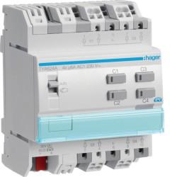 Actuador de persianas enrollables, 4 canales, 230V AC, 6A