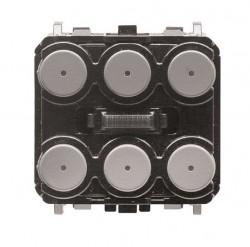 Pulsador Olas / Zenit KNX + IR, 3/6 canales