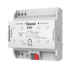 Fuente de alimentación KNX 640mA con 29VDC auxiliar. Vin: 110VAC