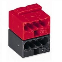 Caja 50 uds. fichas de empalme KNX roja/gris oscuro