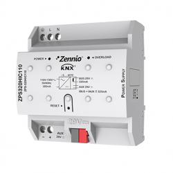 Fuente de alimentación KNX 320mA con 29VDC auxiliar. Vin: 110VAC