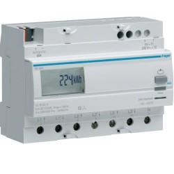 Contador de energía trifásico 100A, 230V, medida directa.