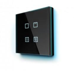 Pulsador capacitivo KNX , 4 botones e iluminación perimetral RGB. Negro