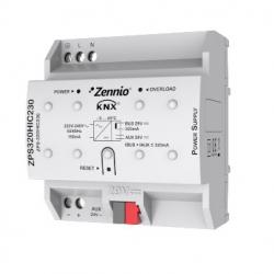 Fuente de alimentación KNX 320mA con 29VDC auxiliar. Vin: 230VAC