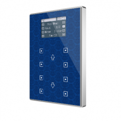 Panel capacitivo de 8 botones y display (modelo VIEW). Marco aluminio